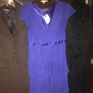Nwt bice italy new purple flounce ruffle dress